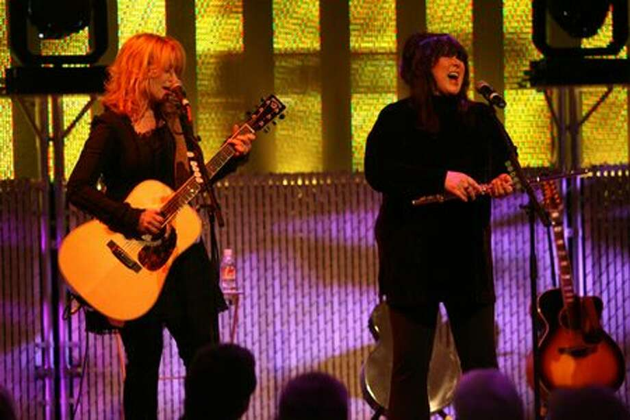 Nancy and Ann Wilson of Heart perform in the Skychurch at Experience Music Project Thursday, May 24, 2007. (Mike Urban/Seattlepi.com file) Photo: P-I File