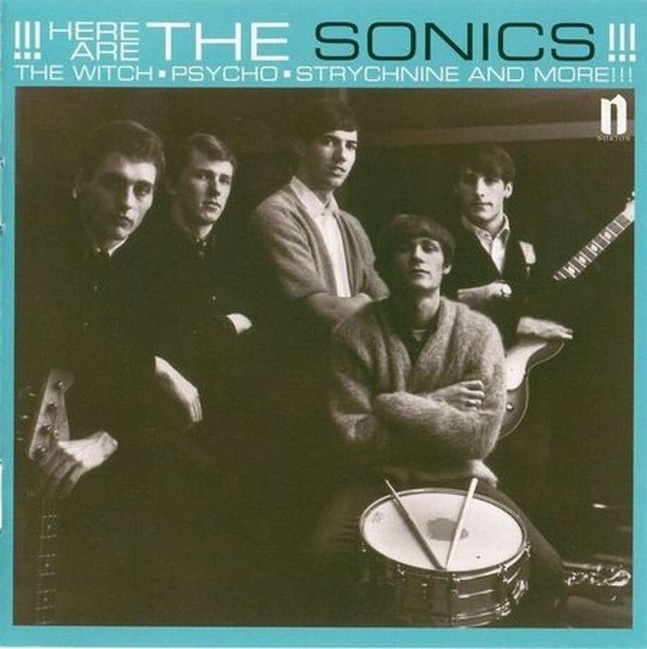 "A reissue cover for The Sonics' first album ""Here Are The Sonics,"" first released in 1965 on Etiquette Records. The Tacoma garage rock band, which influenced the Seattle grunge scene of the late 1980s and early 1990s, recorded the album in Seattle. Photo: P-I File"