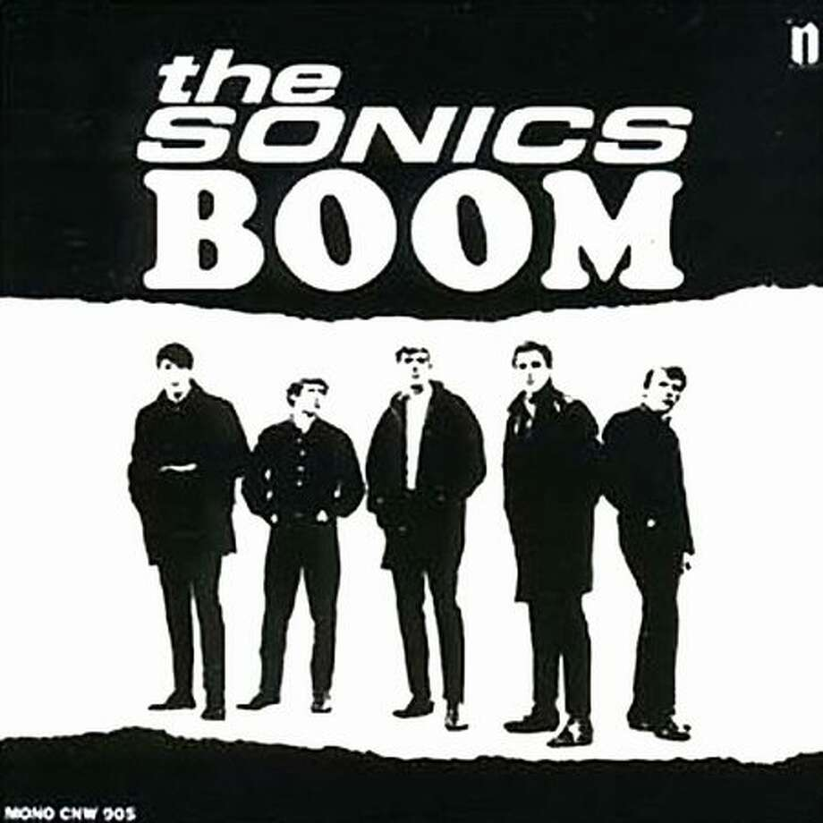 "A reissue cover for The Sonics' second album ""Boom,"" first released in 1966 on Etiquette Records. Photo: P-I File"