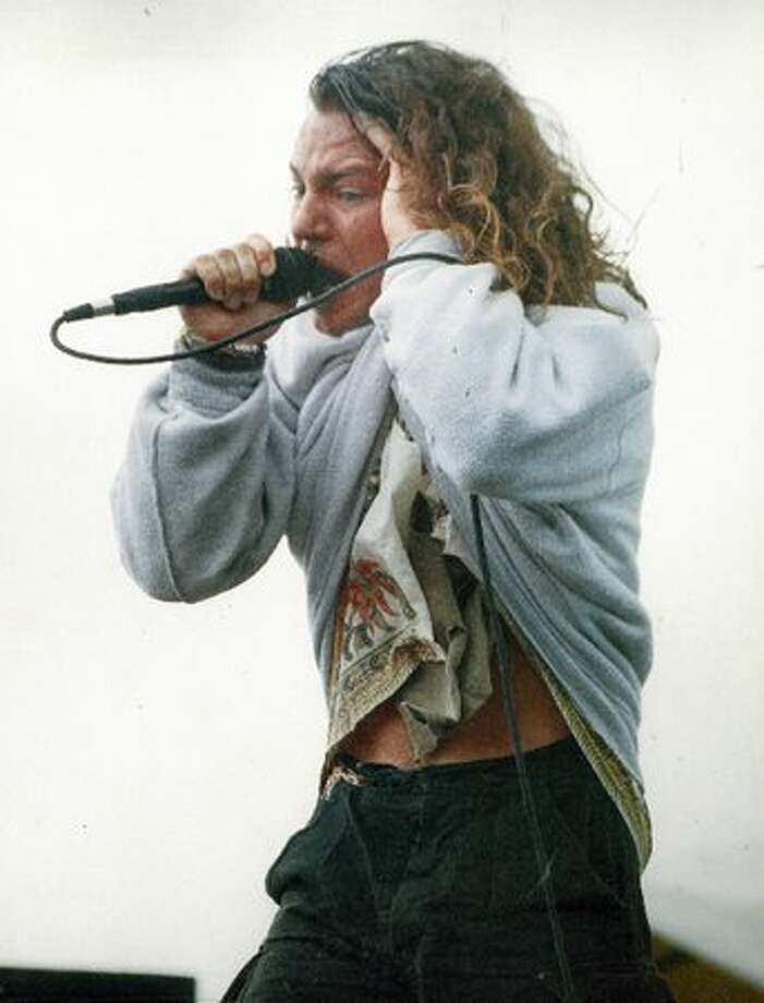 Eddie Vedder at Magnusson Park, Sept. 20, 1992. (Mike Urban/Seattlepi.com file) Photo: P-I File