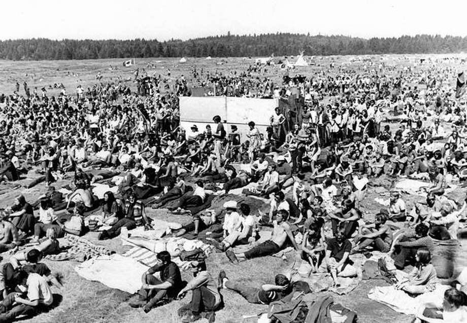 The crowd at a rock Northwest festival, Sep. 2, 1969. Photo: P-I File