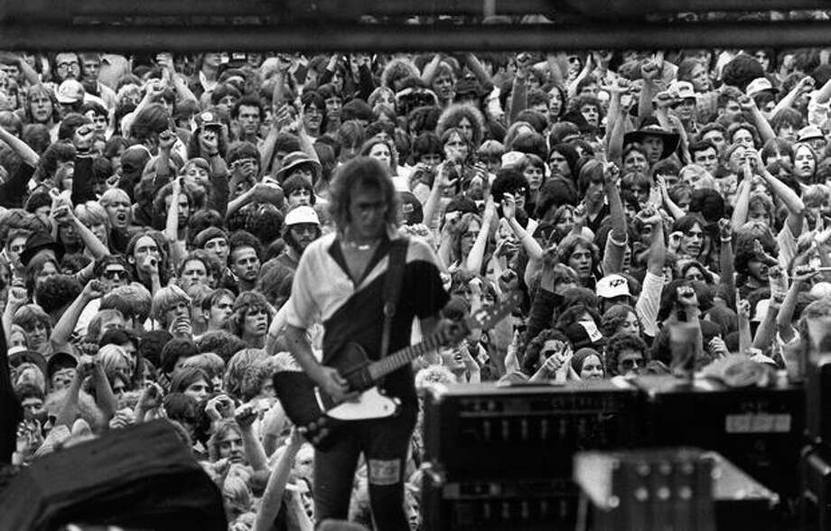 A scene from a Northwest rock concert, Aug. 19, 1982. The band is not identified. Photo: P-I File