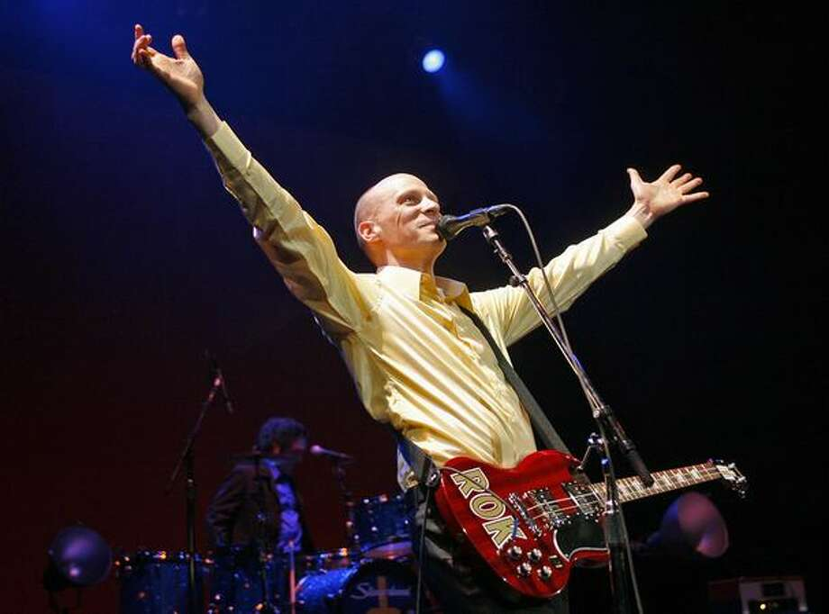 The Presidents of the United States of America's Chris Ballew greets the crowd before playing the Paramount Theater, Feb. 15, 2008. (Mike Urban/Seattlepi.com file) Photo: P-I File