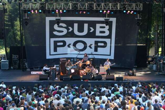 The Fleet Foxes perform at the Sub Pop 20th Anniversary Festival at Marymoor Park in Redmond, July 12, 2008. (Mike Kane/Seattlepi.com file) Photo: P-I File