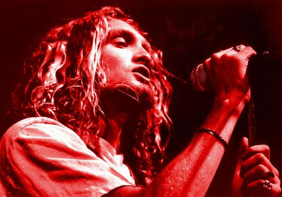 The late Layne Staley of Alice in Chains, 2001. Photo: P-I File