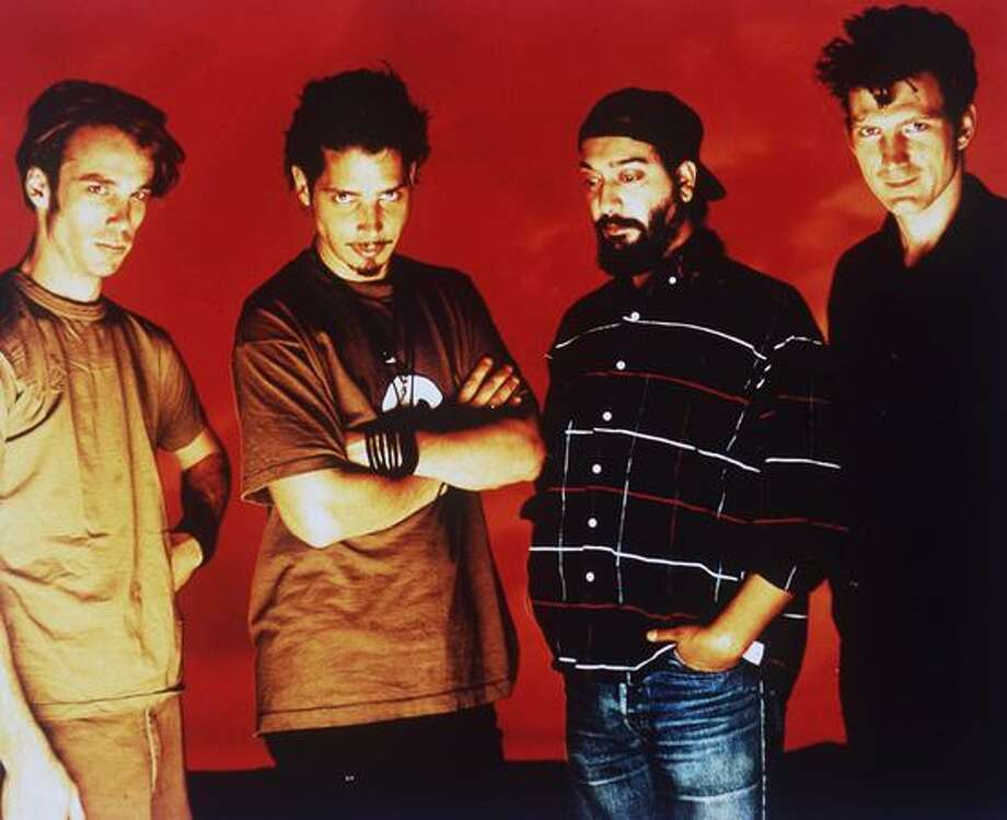 Soundgarden in a 1997 promotional photo. From left: Matt Cameron, Chris Cornell, Kim Thayil, and Ben Shepherd. Photo: P-I File