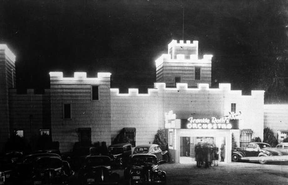 "The Spanish Castle dance hall, built in the 1930s in what's now Des Moines. Jimi Hendrix played an early rock 'n' roll gig there, backing up a 1960s Northwest rock band. Hendrix went on to write ""Spanish Castle Magic"" about the dance hall, which was demolished in April 1968. Listen to O'Day tell the story of Hendrix's performance in the podcast below. Photo: P-I File"