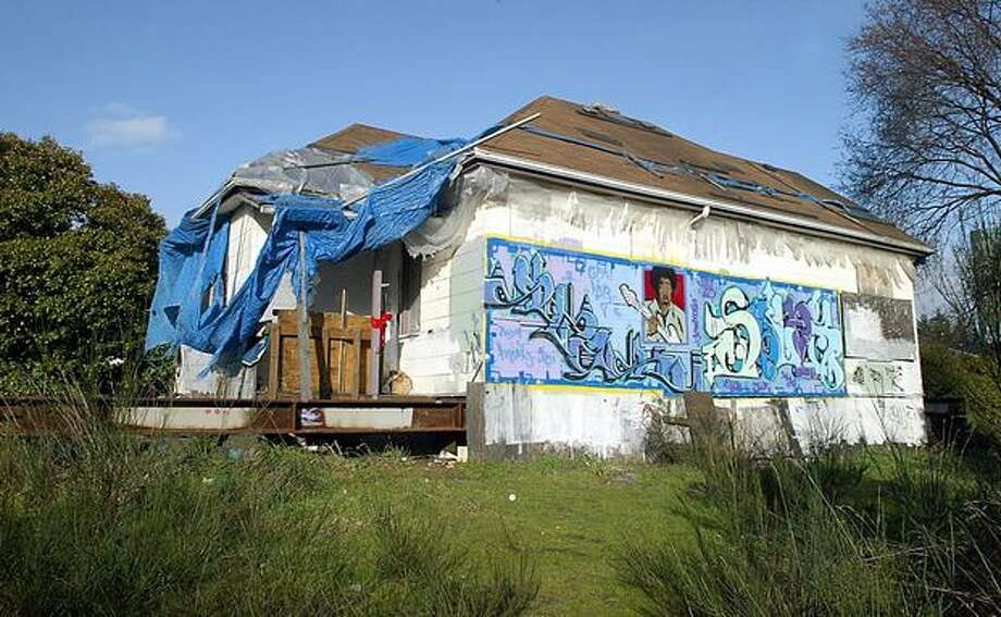 The former Central District home of Jimi Hendrix, which sat in the 2000 block of South Jackson Street, shown in January 2005. Photo: P-I File