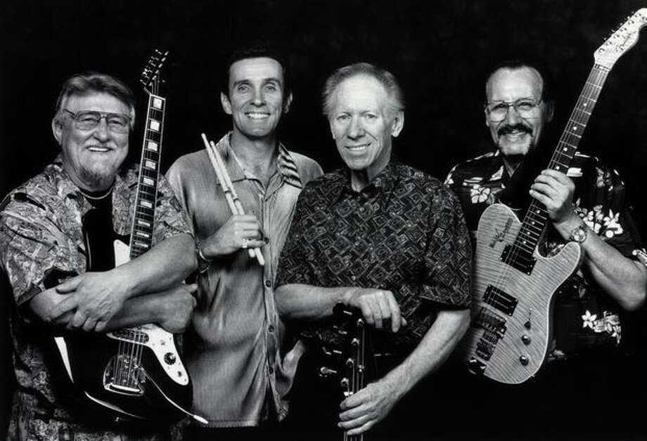 The Ventures with Don Wilson, Leon Taylor, Bob Bogle and Nokie Edwards, 2005. Photo: P-I File