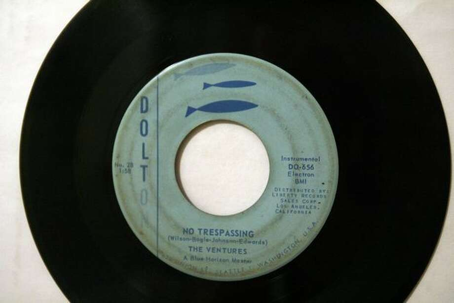 "The Ventures single ""No Tresspassing"" on Dolton Records. This song was also included on their 1961 debut Dolton LP, ""Walk, Don't Run."" Photo: Casey McNerthney, Seattlepi.com"