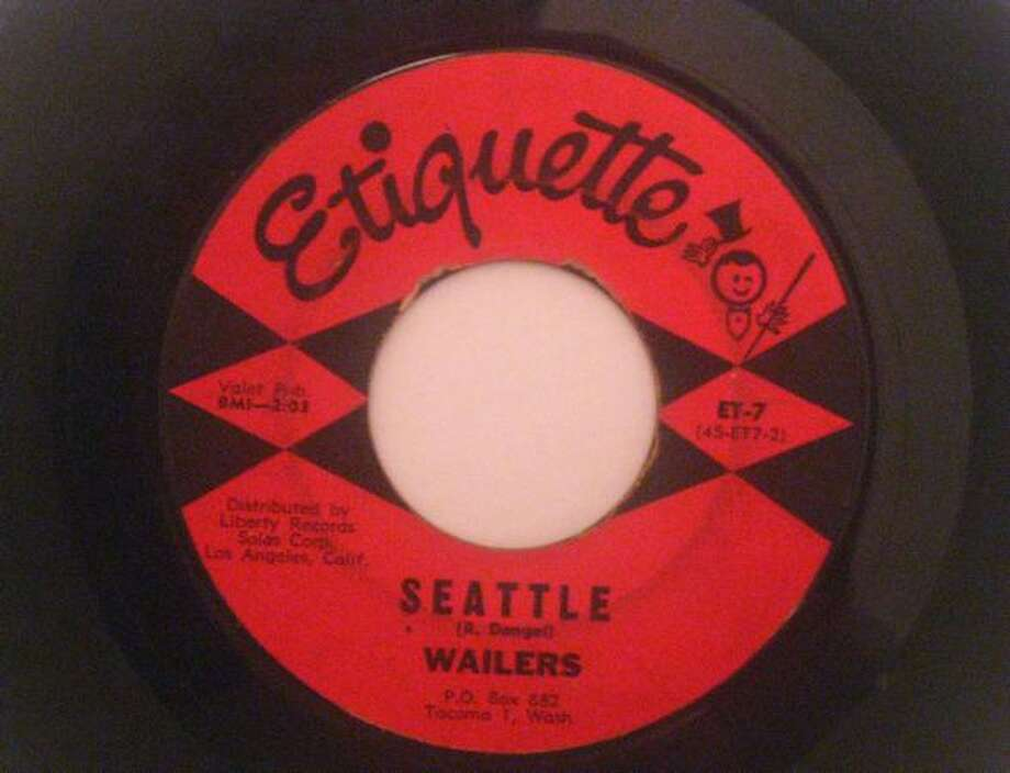 "A copy of The Wailers' song ""Seattle,"" on Etiquette Records. Photo: Casey McNerthney, Seattlepi.com"