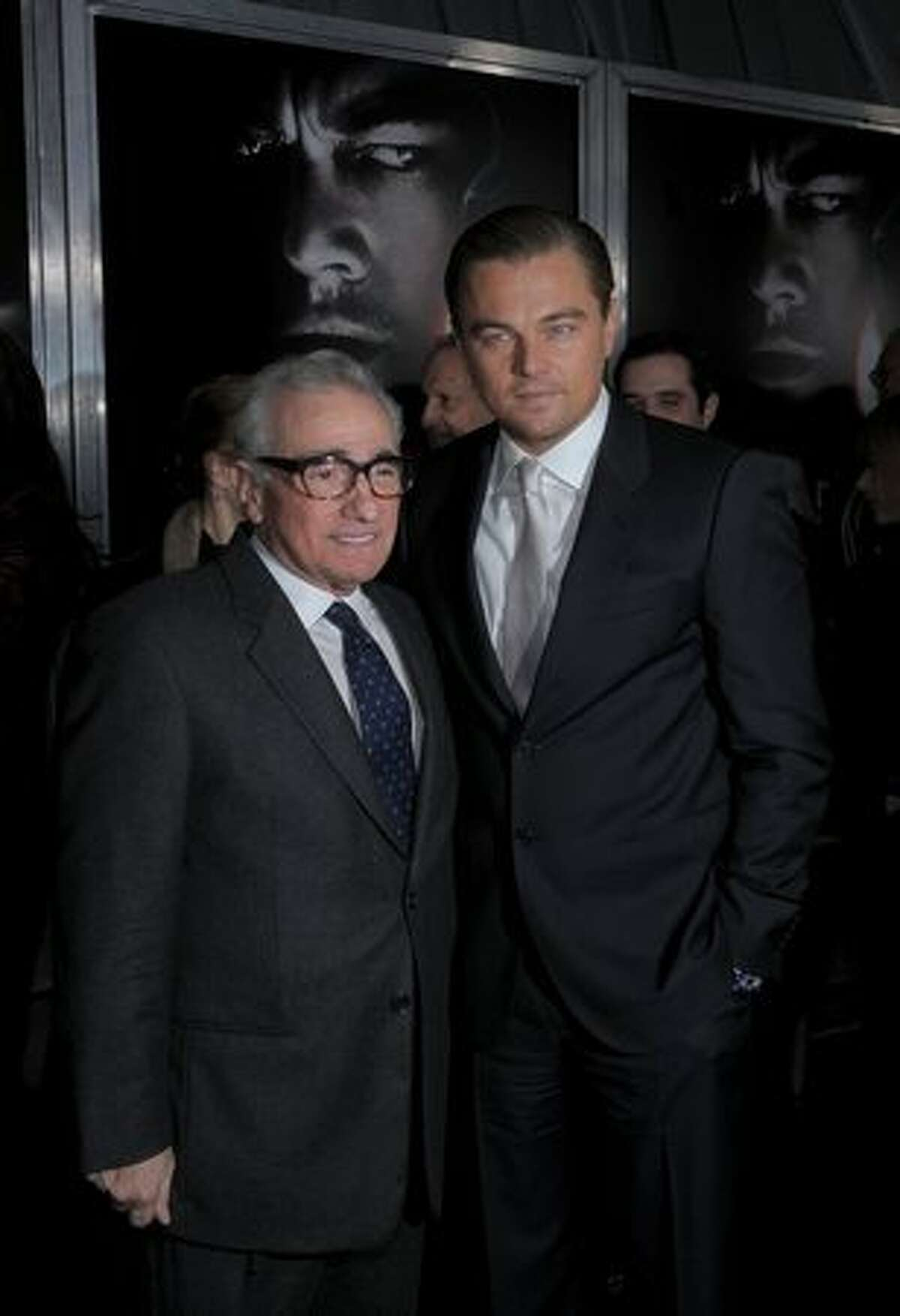 Director and producer Martin Scorsese and actor Leonardo DiCaprio attend the