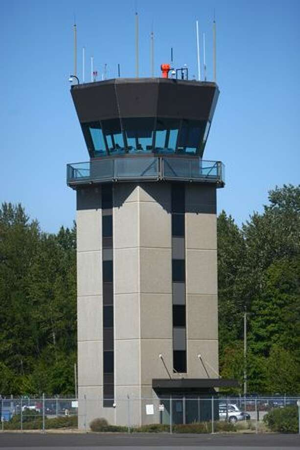 The air traffic control tower at Bellingham International Airport. Photo: Joshua Trujillo, Seattlepi.com