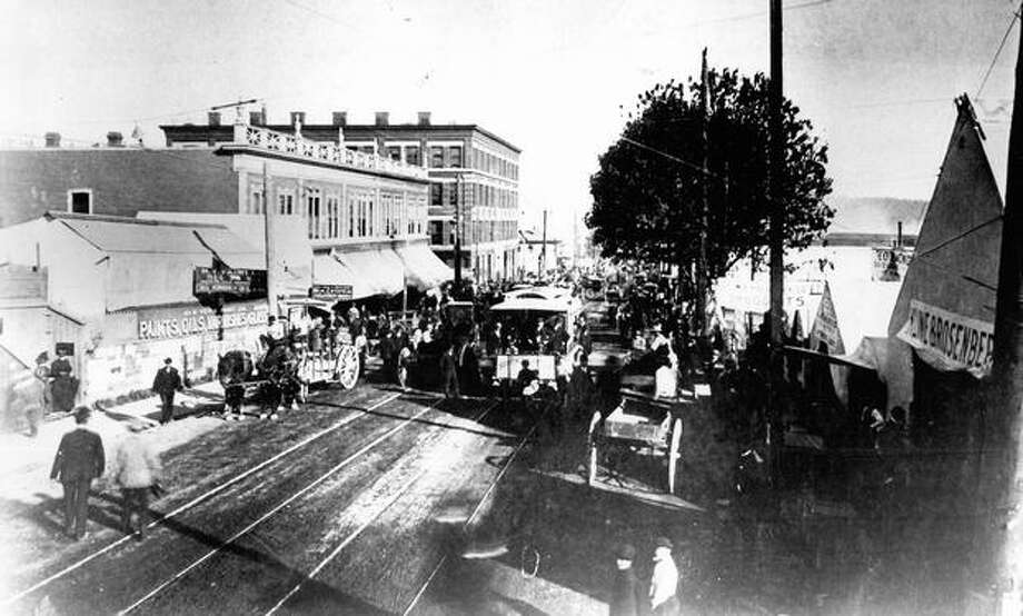 The caption for this photo reads: Before the [Seattle] fire of June 6th, 1889. Photo: P-I File