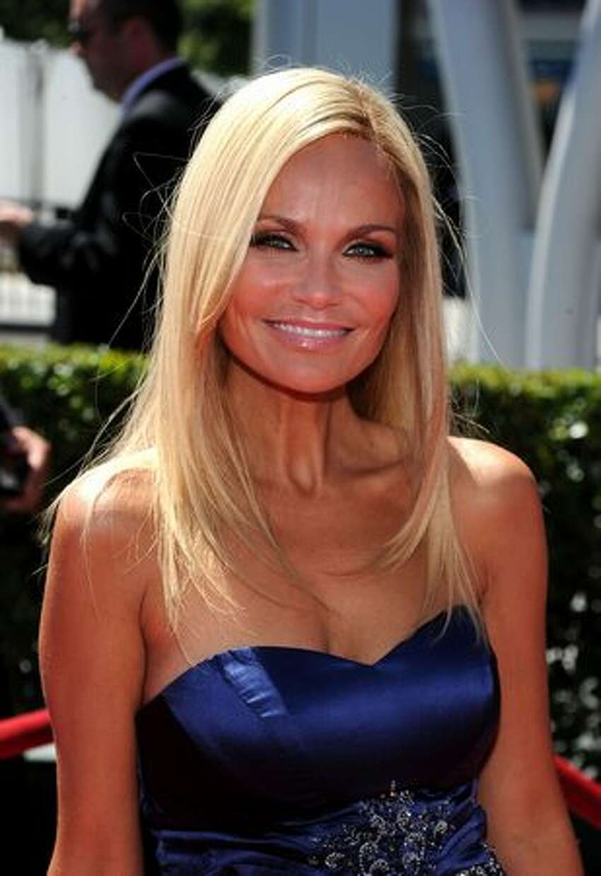 Actress Kristin Chenoweth arrives at the 2010 Creative Arts Emmy Awards at the Nokia Theatre L.A. Live in Los Angeles on Aug. 21, 2010.