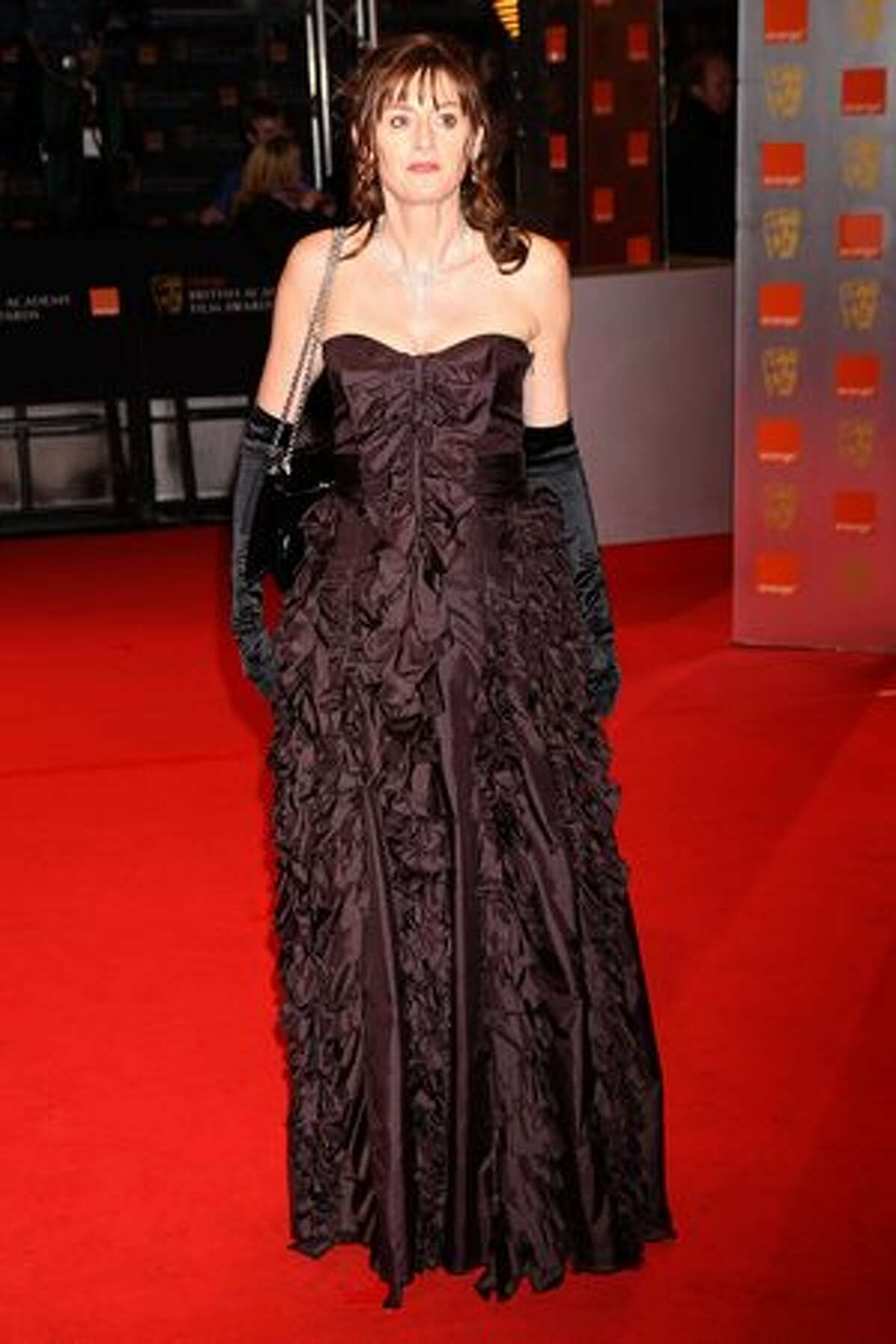 Amanda Berry arrives at the Orange British Academy Film Awards held at The Royal Opera House in London on Sunday, Feb. 21, 2010.