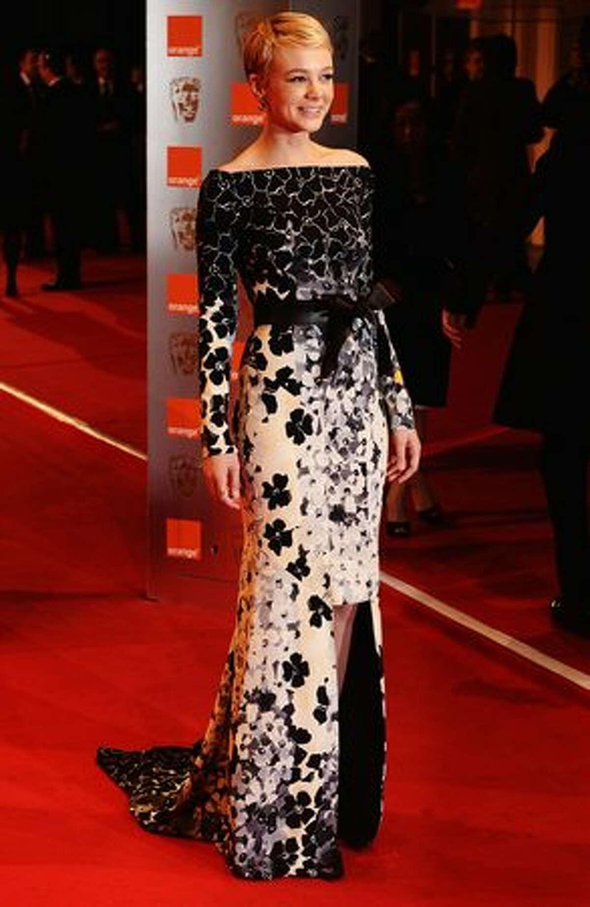 Actress Carey Mulligan arrives.