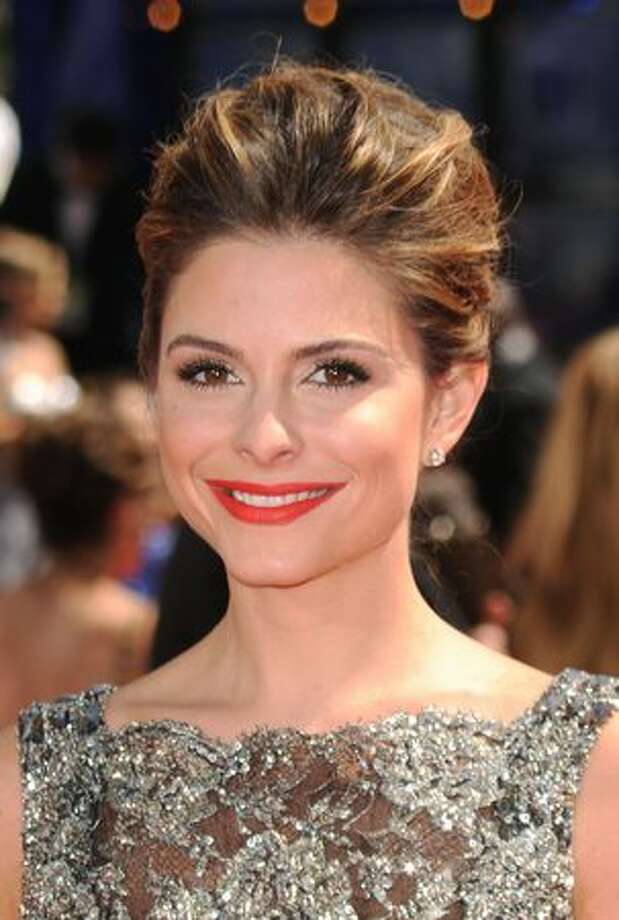 TV personality Maria Menounos arrives. Photo: Getty Images