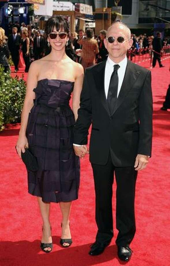 Actor Bob Balaban (R) and daughter Mariah Balaban arrive. Photo: Getty Images