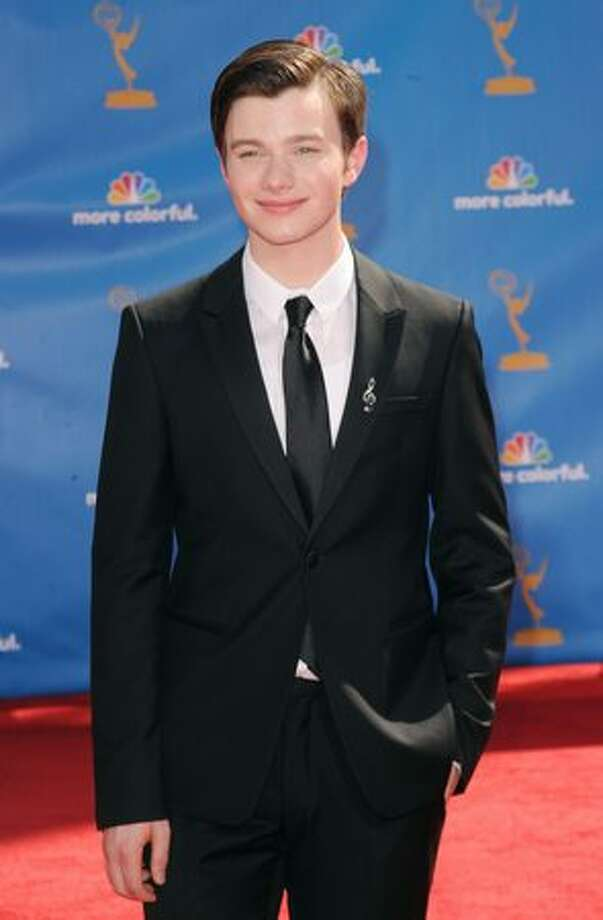 Actor Chris Colfer arrives. Photo: Getty Images