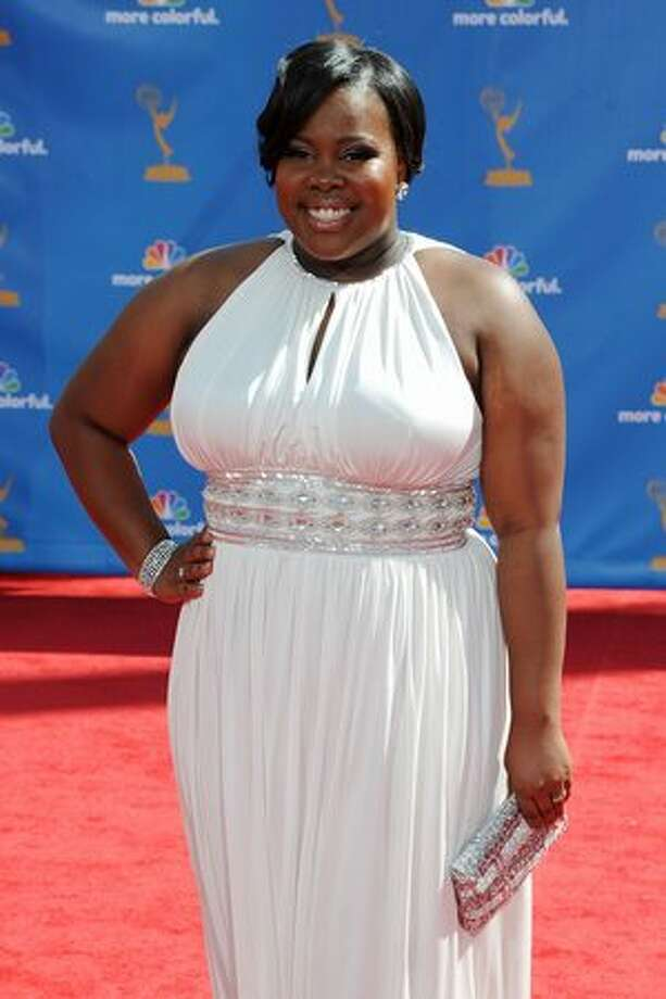 Actress Amber Riley arrives. Photo: Getty Images