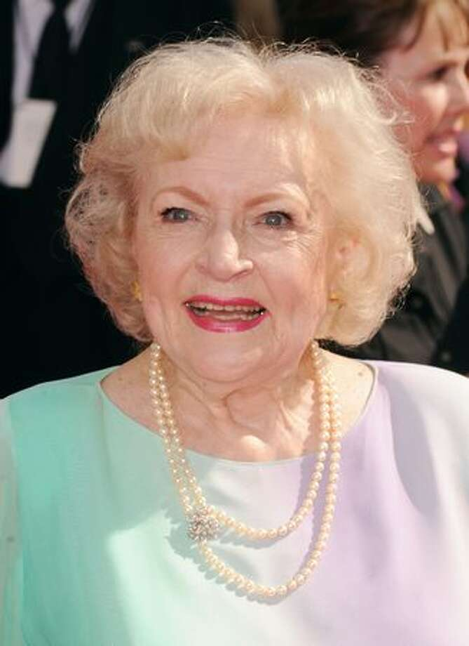 Actress Betty White arrives. Photo: Getty Images