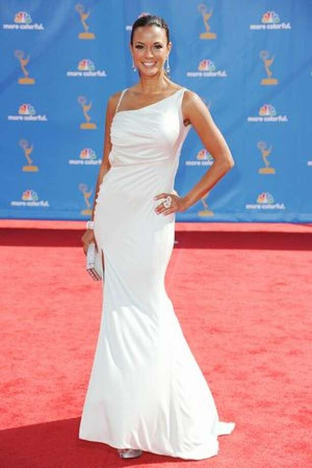 Actress Eva La Rue arrives. Photo: Getty Images