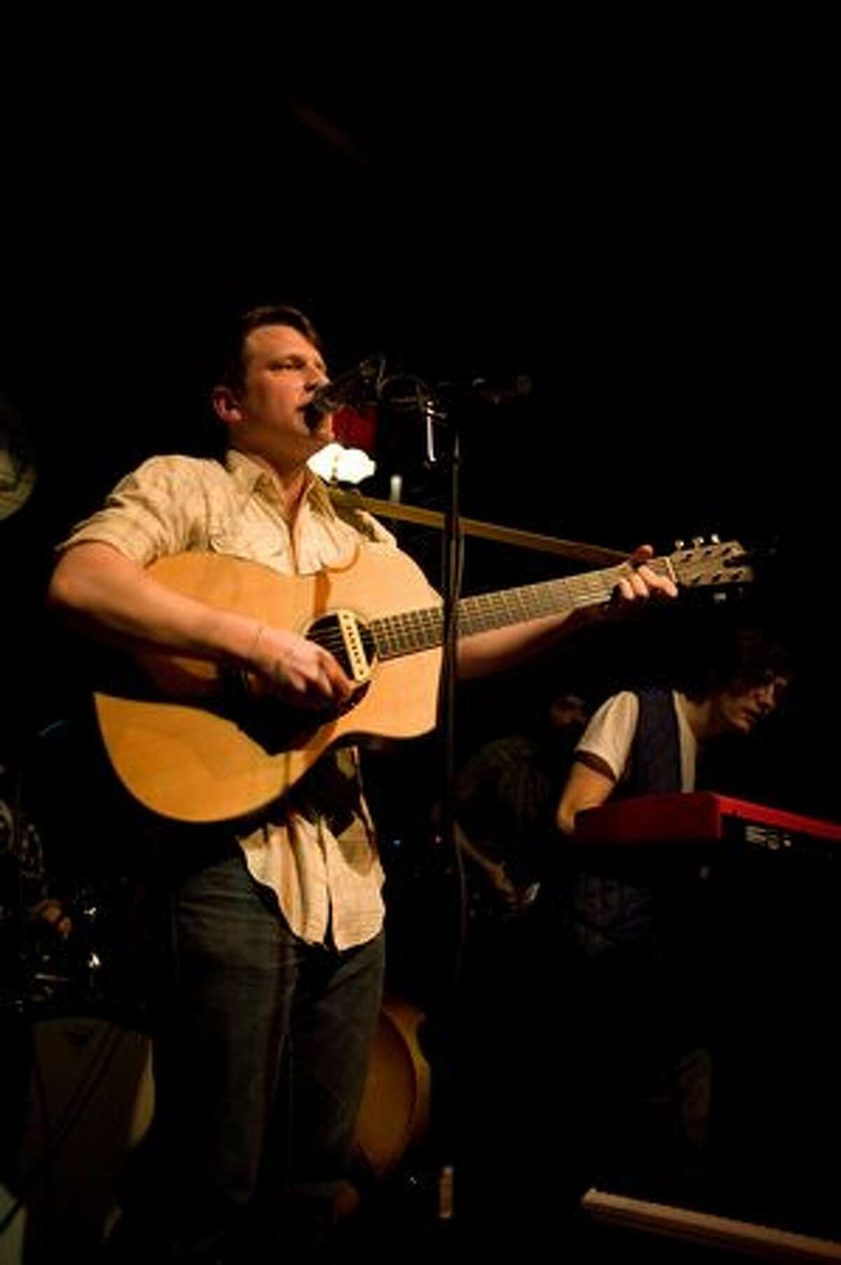 Matt Bishop of Hey Marseilles performs at Mississippi Studios in Portland. (Chona Kasinger / seattlepi.com)