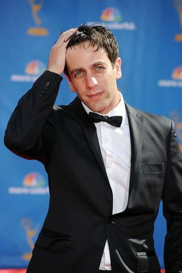 Actor B.J. Novak arrives. Photo: Getty Images