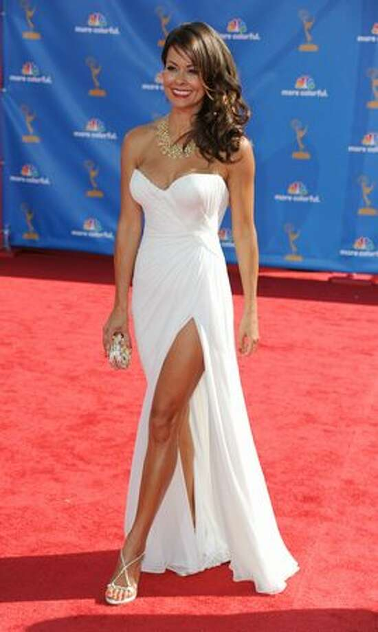 Actress Brooke Burke arrives. Photo: Getty Images