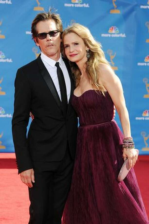 Actor Kevin Bacon (L) and actress Kyra Sedgwick arrive. Photo: Getty Images