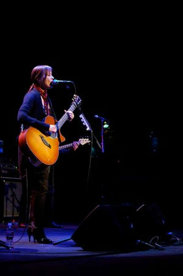 Suzanne Vega performs at the Moore Theatre on Feb. 25. (Kam Martin / seattlepi.com)