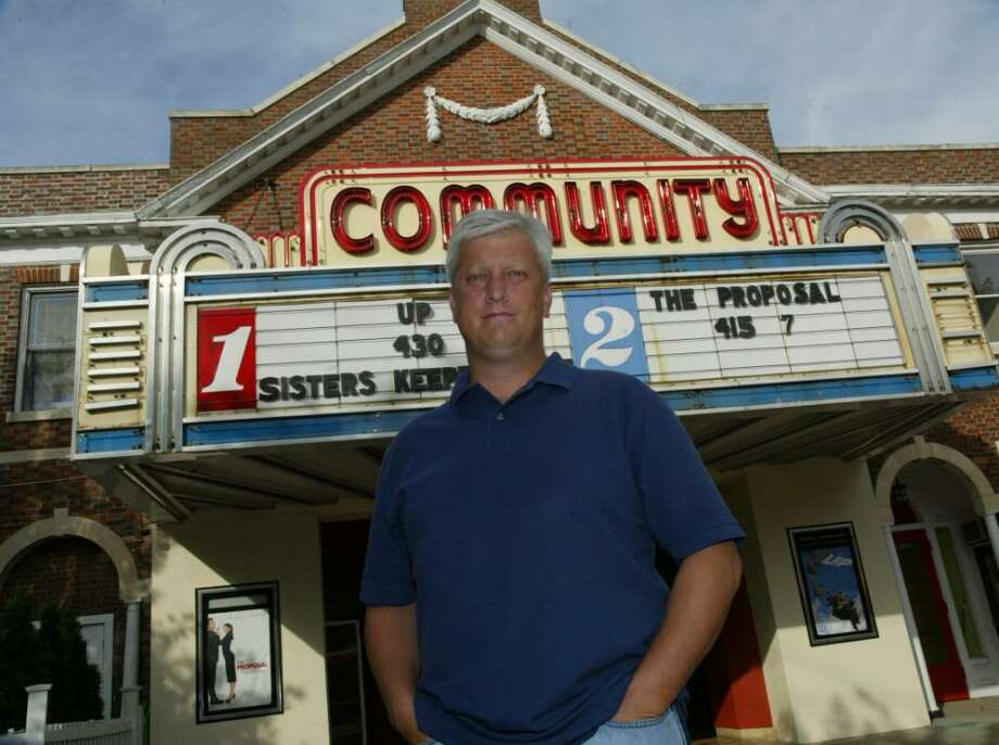 Leo Redgate, stands in front of the Community Theater on Unquowa Road and the Post Road, Thursday, Sept. 10 2009.Redgate has been chosen Arts Patron of the Year by the Fairfield Arts Council. Photo: Phil Noel / Connecticut Post