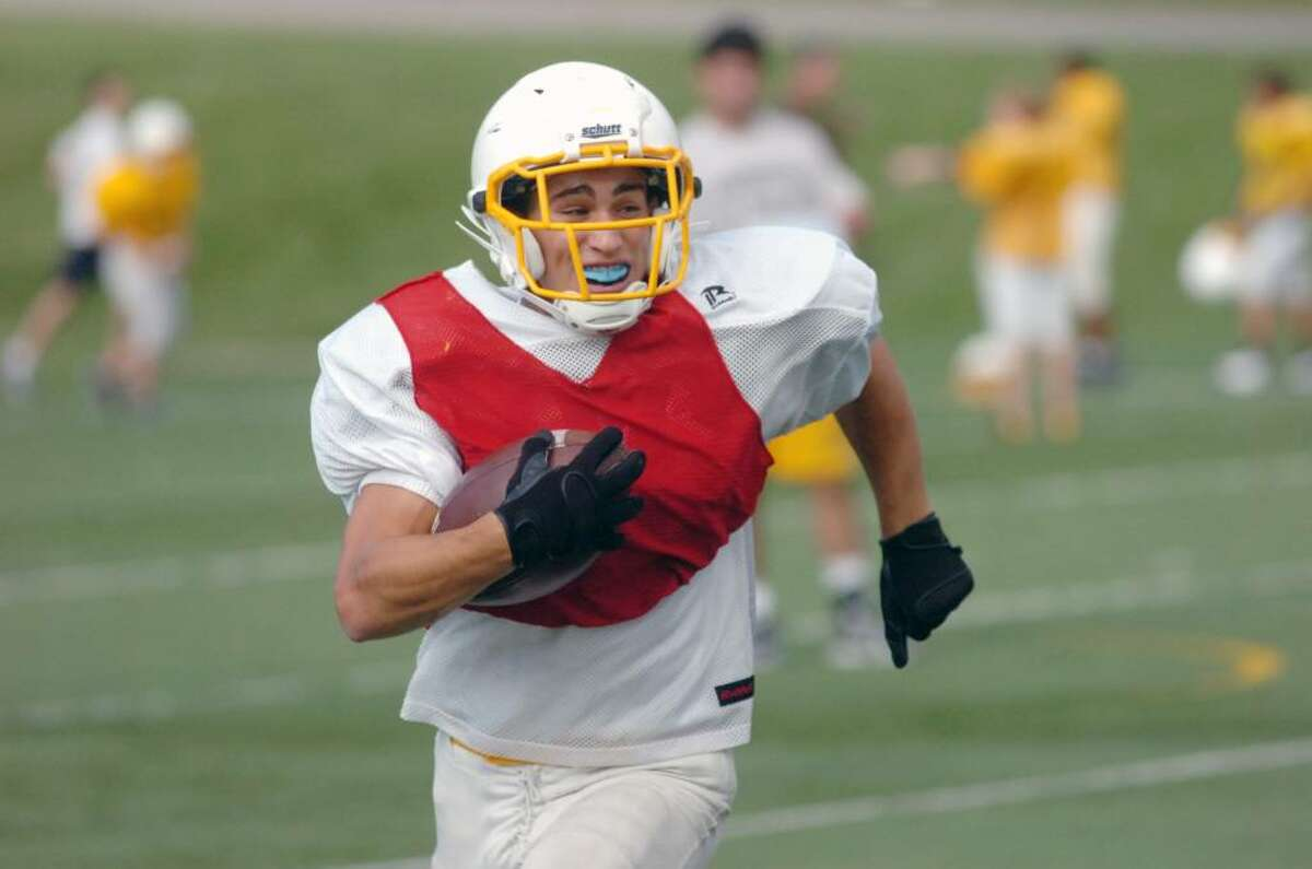 The Brunswick School Bruins football player Joey Beninati practices on Friday afternoon, Sept. 18, 2009 at the school.