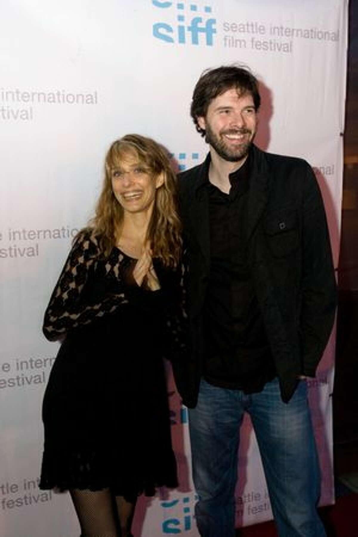 Filmmakers Lynn Shelton and John Jeffcoat on the red carpet for the premiere of Shelton's MTV mini-series