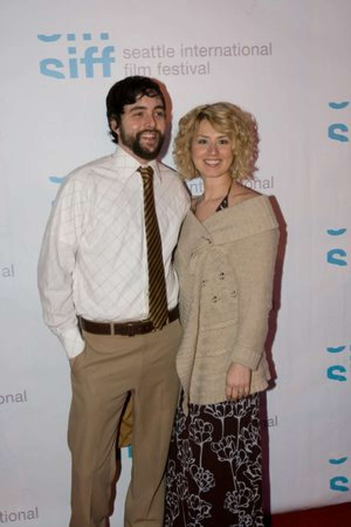Caleb Quick of the Moondoggies and his wife on the red carpet for the premiere of Lynn Shelton's MTV mini-series