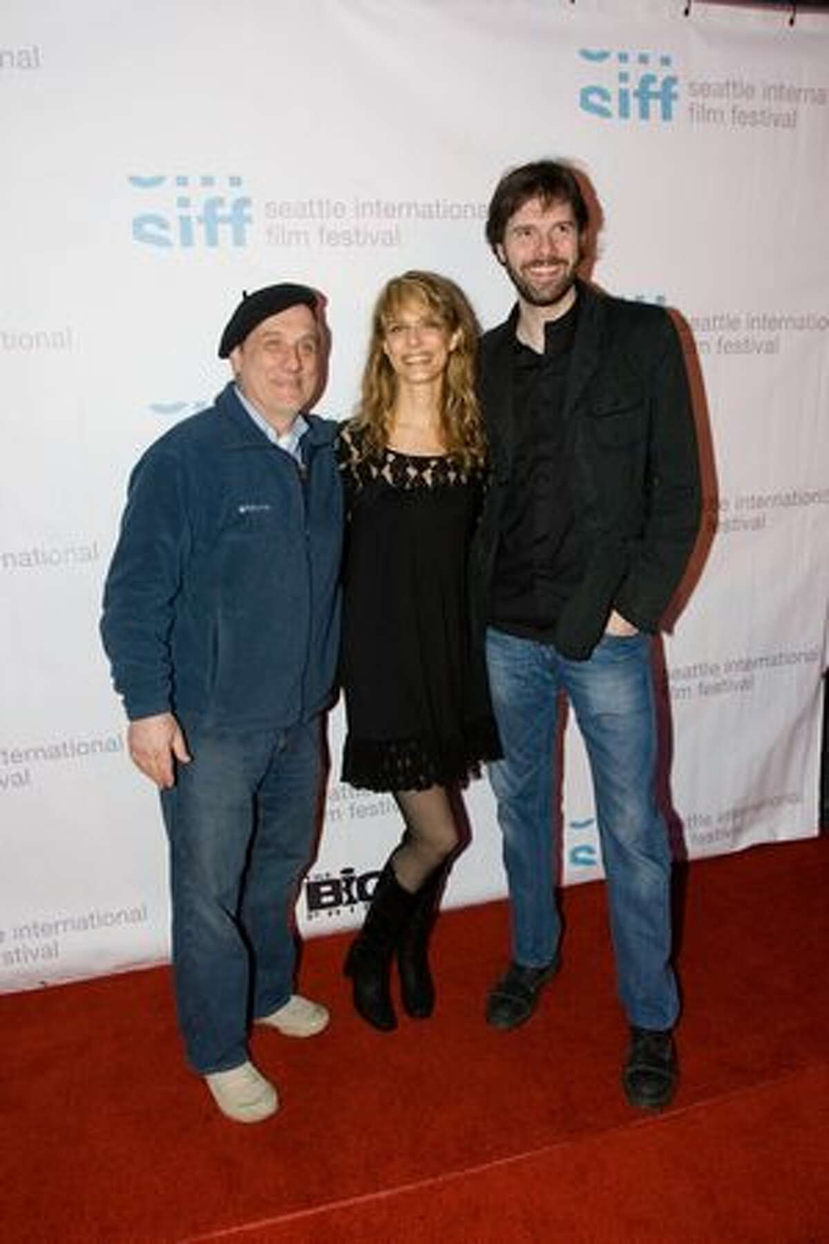 Lynn Shelton with production crew on the red carpet for the premiere of Shelton's MTV mini-series
