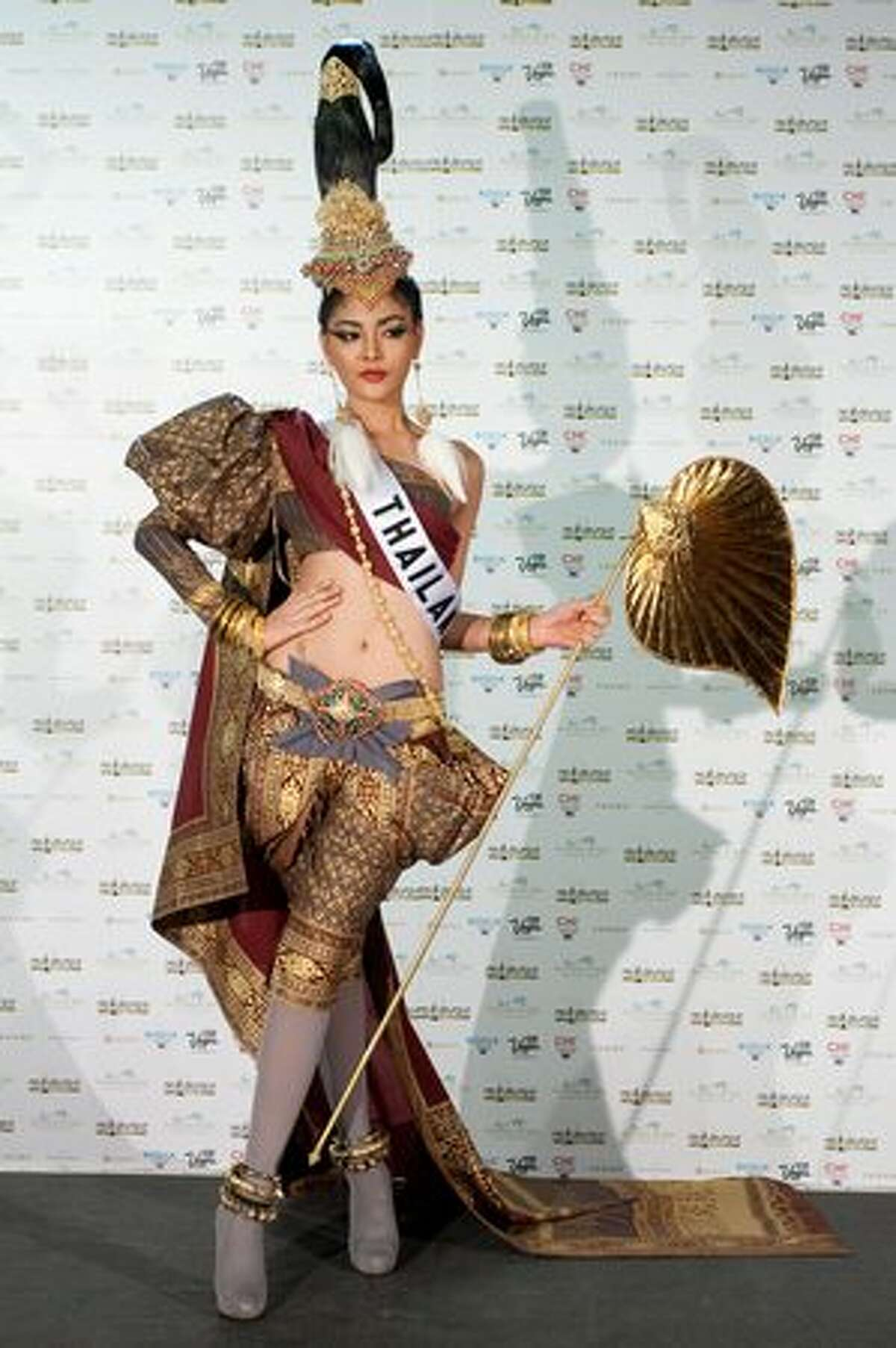 Fonthip Watcharatrakul, Miss Thailand 2010, also won for best national costume, seen here.