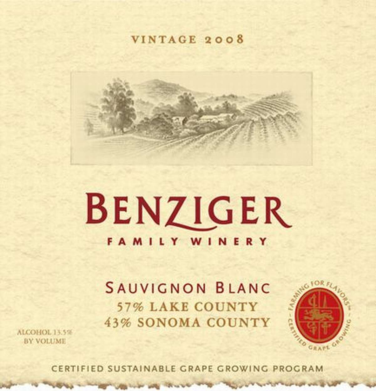 2008 Benziger Sauvignon Blanc, Signaterra Shone Farm Vineyard, Russian River Valley ($26) Benziger hits it again with what seems to be a mother lode for Sauvignon Blanc, run by Santa Rosa Junior College. Big, energizing scents of chive, grass and aloe, with ripe pomelo, pineapple and green papaya rounding it out. A heady, strong style.