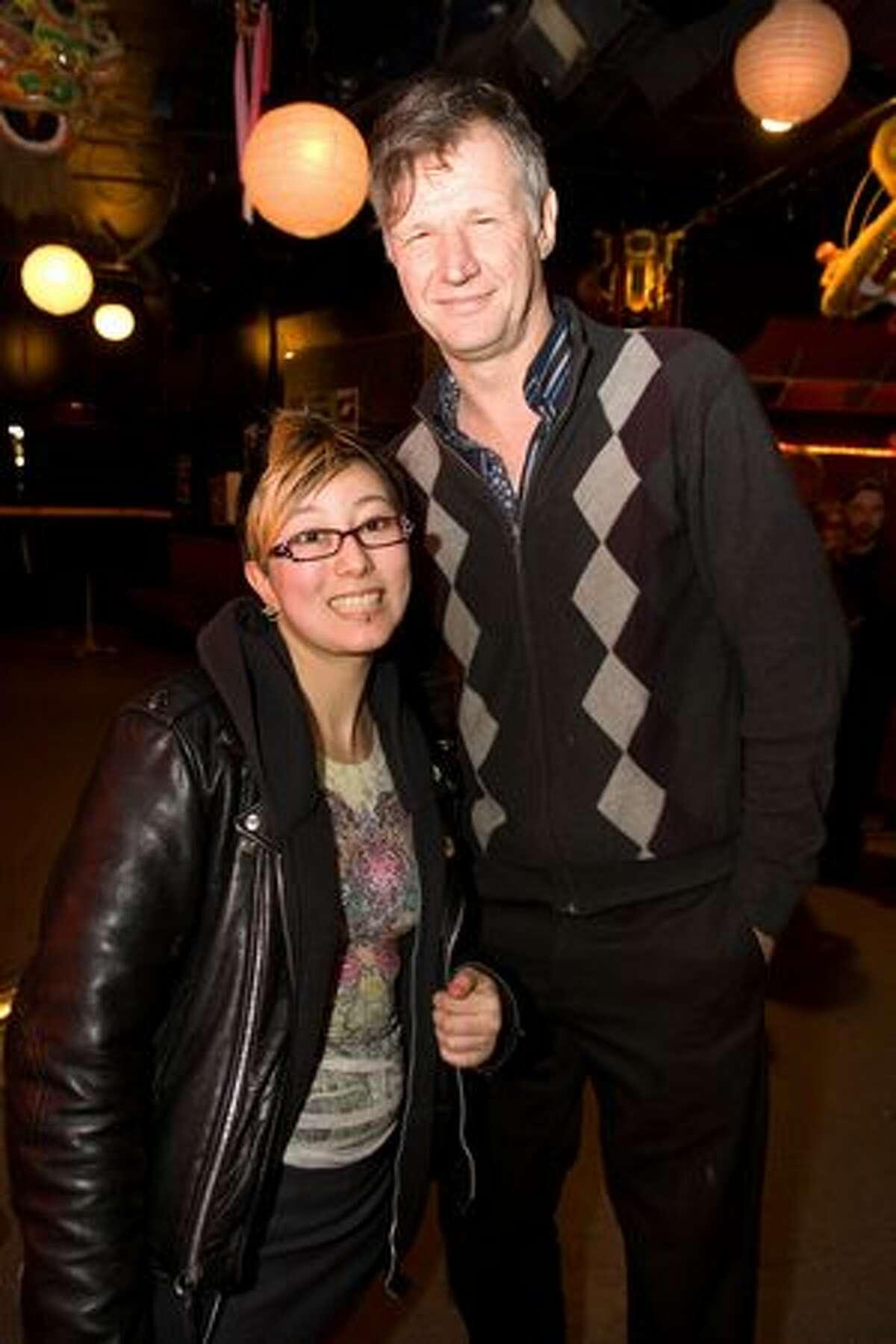 Jess Bateman and Steve Csutoras at Chop Suey's Laff Hole on March 3, 2010.