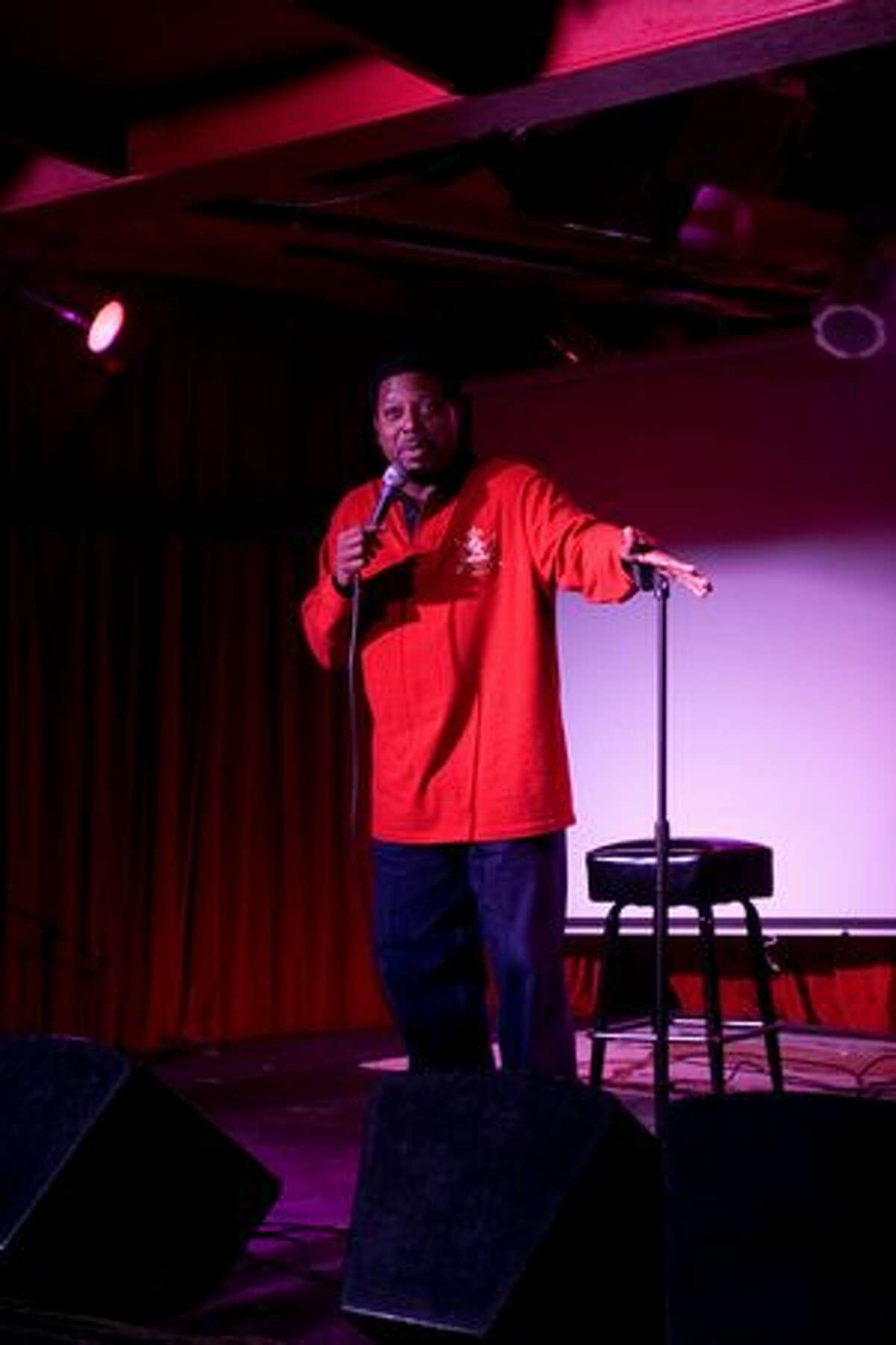 Comedian Harold Gomez performs for Laff Hole at Chop Suey on March 3, 2010.