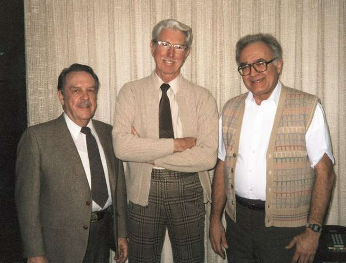 From left, Dick's Drive-In partners B.O.A. Thomas, H. Warren Ghormley and Richard
