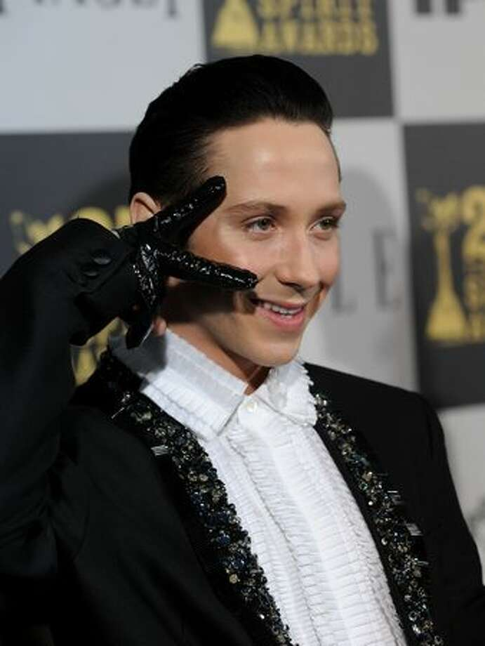 Figure skater Johnny Weir arrives at the 25th Film Independent's Spirit Awards held at Nokia Event Deck at L.A. Live on March 5, 2010 in Los Angeles, California. Photo: Getty Images