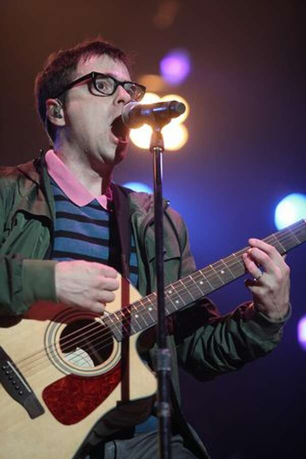 Weezer performs during Bumbershoot on Sunday. Photo: Cliff DesPeaux, Special To Seattlepi.com