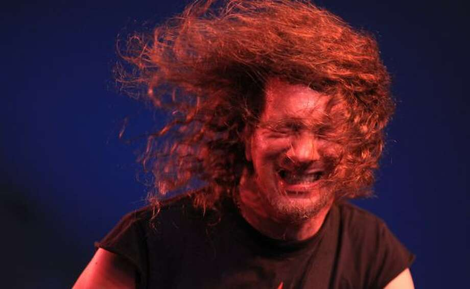 "Vocalist Steve ""Lips"" Kudlow, of Candian heavy metal band Anvil, lets his hair fly at the Center Square Stage during day three of Bumbershoot, Seattle's annual music festival, on Monday, September 6, 2010 at Seattle Center. Photo: Joshua Trujillo, Seattlepi.com"