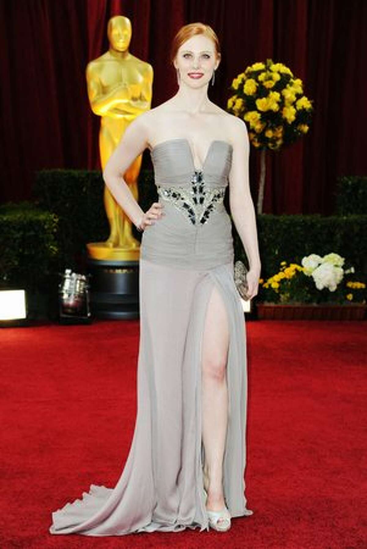 Actress Deborah Ann Woll arrives at the 82nd Annual Academy Awards held at Kodak Theatre in Hollywood, California.