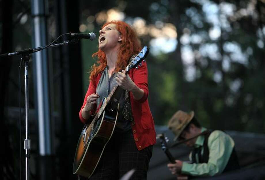 Neko Case, a native of Tacoma, performs on the Bumbershoot Mainstage. Photo: Joshua Trujillo, Seattlepi.com