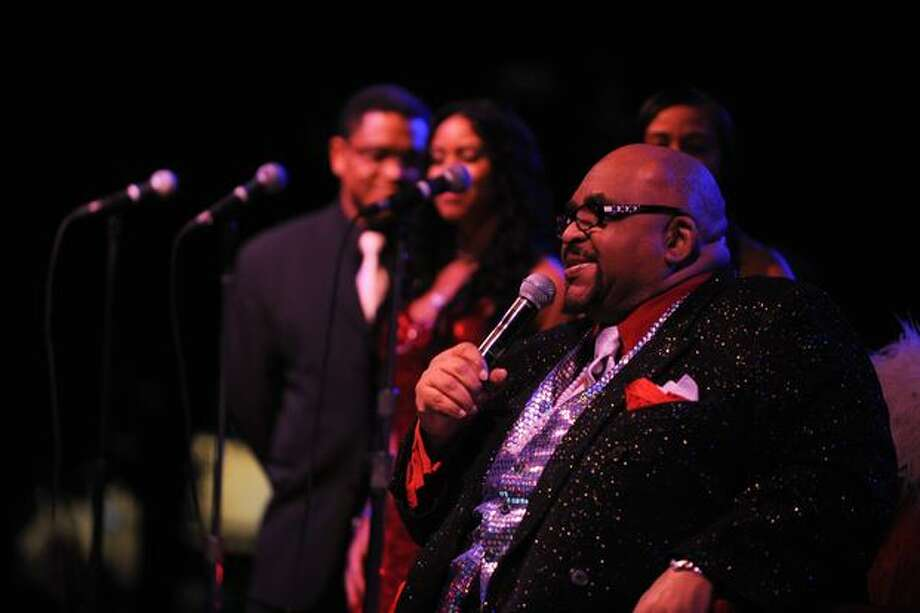 "Solomon Burke, also known as the ""King of Rock and Soul"" sings from his throne. Photo: Elliot Suhr, Seattlepi.com"