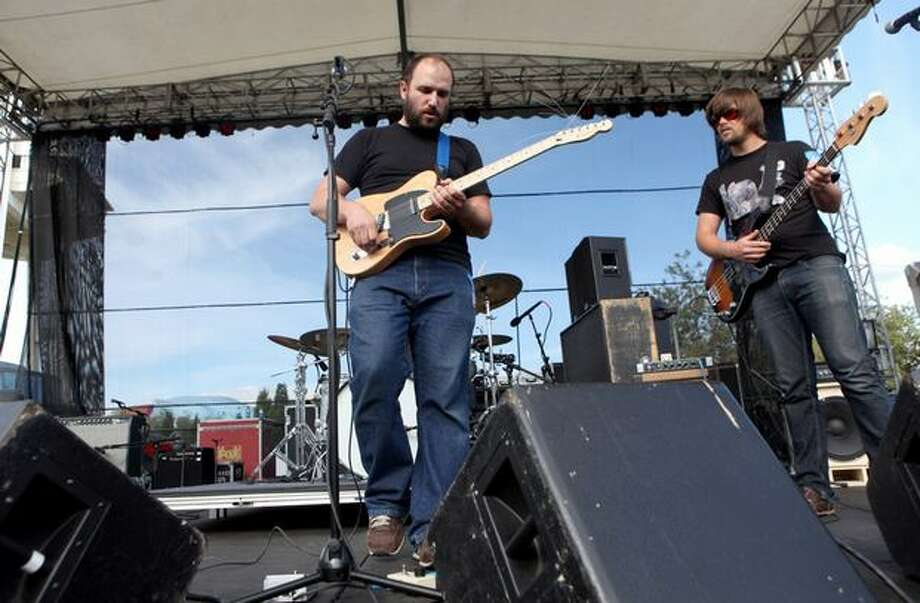David Bazan performs at Bumbershoot Sunday. Photo: Cliff DesPeaux, Special To Seattlepi.com