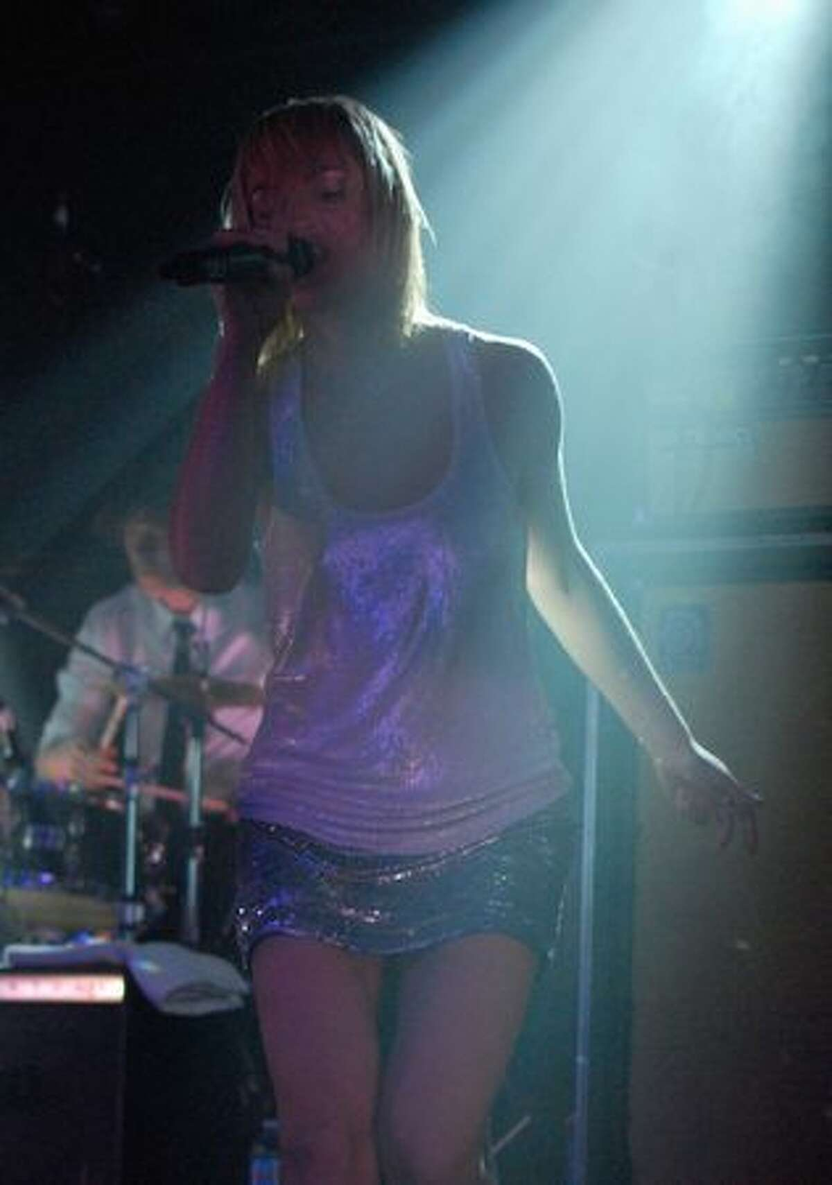 Metric performs before a sold-out crowd at Showbox SoDo on March 21. (Kam Martin / seattlepi.com)